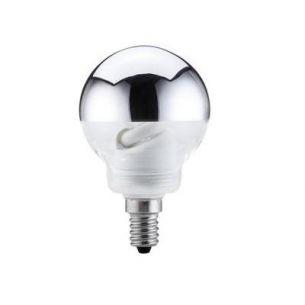 Energiesparlampe Globe 60 7W E14 Kopfspiegel Silber 266 Lumen 2700K