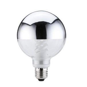 Energiesparlampe Globe 95 10W E27 Kopfspiegel Silber 436 Lumen 2700°K
