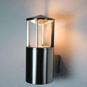 Moderne Aussenwandleuchte aus Edelstahl -- inkl. Leuchtmittel