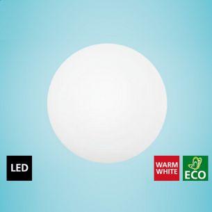 LED-Leuchte für Wand oder Decke, Ø 35cm, IP44 Stahl, weiß /Glas opal-matt, 1x18W, 1440 lm