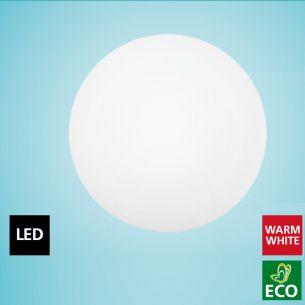 LED-Leuchte Ø 35cm mit Sensor, für Wand oder Deckenmontage, IP44, Stahl /Glas, LED 18W , 3.000K, 1506 lm