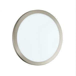 LED-Wandleuchte nickel-matt / Glas satiniert Ø34,5cm 1x 12 Watt, 7,80 cm, 34,50 cm