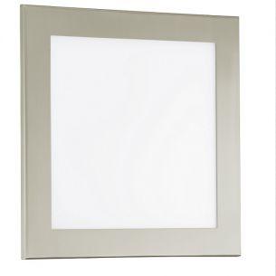 LED-Leuchte für Wand oder Decke in 2 Größen - Nickel-matt / Kunststoffglas satiniert - LED in 18W, 1330lm, warmweiß