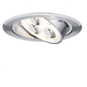 LED-Einbauleuchte in Aluminium inklusive 3W LED 3000°K und Trafo 45° schwenkbar