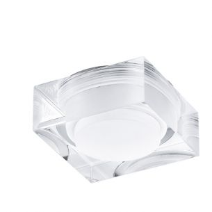 LED-Einbauleuchte, Stahl, chrom / Kunststoff, klar, weiss, LED GU10,1x3Watt, 3000K warmweiß