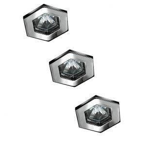 halogen einbauleuchtenset hexagonal in eisen geb rstet inklusive 3x oder 5x 20w gu5 3 und trafo. Black Bedroom Furniture Sets. Home Design Ideas