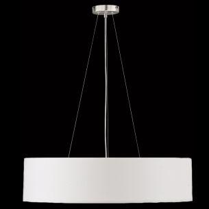 Pendelleuchte Mara, Chintz-Stoffschirm Weiß - 50 cm 50,00 cm