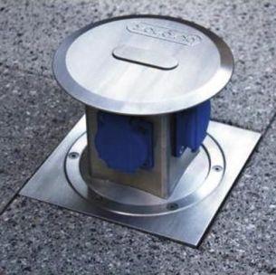 4-fach Energieverteiler aus hochwertigem Aluminium - IP67 - versenkbar und befahrbar