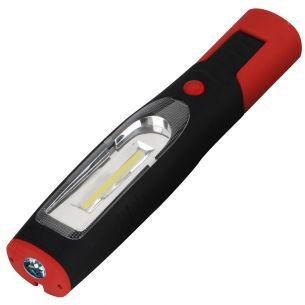 LED Taschenlampe Arbeitsleuchte 3W 3,7V 220lm inkl. Magnet, 2,2Ah Akku, 230V + KFZ-Ladekabel