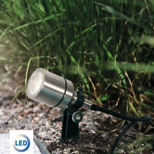 LED-Unterwasserstrahler aus vernickeltem Messing IP68 3W CREE-LED