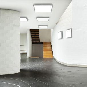 LED-Deckenleuchte geeignet für Ein- und Aufbau - mit opalem Diffusor - inklusive SMD - LED 40W - 3000Lumen - 3500°K