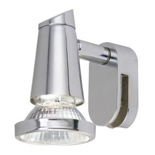 Spiegelleuchte in Chrom, inklusive Leuchtmittel GU10 1x 50W