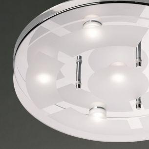 Runde LED-Deckenleuchte aus Chrom und Glas - Inklusive LEDs - 2 Größen