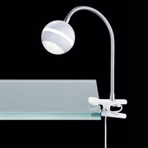 LED-Klemmleuchte in Weiß oder Chrom inklusive 1x 5W SMD-LEDs 350 Lumen 3100°K