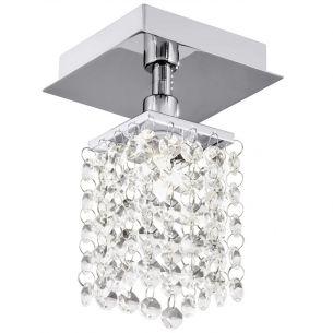 Dekorative Aufbauleuchte mit Kristallglasbehang, 1x G9 33Watt Energie-Saver Leuchtmittel inklusive