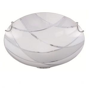 Moderne Glas-Leuchtenserie -  Deckenleuchte - 1-flammig - 30 cm Durchmesser 1x 60 Watt, 30,00 cm