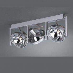 Spotbalken im technischen Design aus Aluminium, 3 flammig