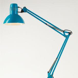 Schreibtischleuchte mit Klemme in Blau blau