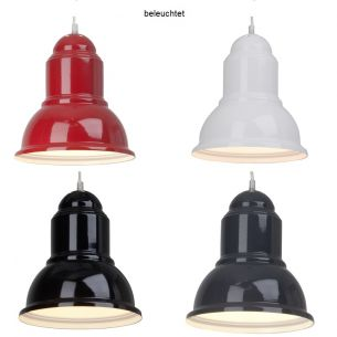 Pendelleuchte im nostalgischen Industrie-Design in 4 Farben wählbar