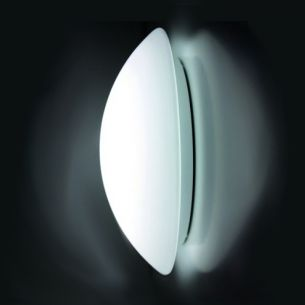 Weiße Sensor-LED- Wand-/Deckenleuchte in verschiedenen Lichtstärken erhältlich - Opalglas satiniert - Warmweiß 3000°K