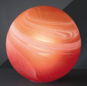 Kugelleuchte aus Alabasterglas in orange/rot -für harmnonische Lichtmomente -in 2 Größen