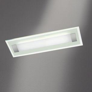 Deckenleuchte Xena L mit Glas Weiss-matt, Länge 70 cm 2x 24 Watt, 70,00 cm