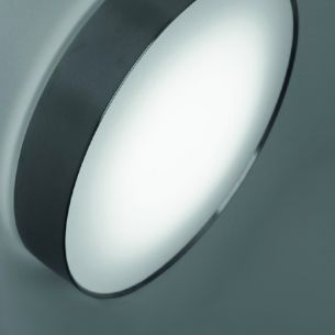 LED-Wandleuchte für das Treppenhaus - mit weißen Diffusor und Edelstahlring - 13W - Warmweiß - IP65 1x 13 Watt, LED warmweiß
