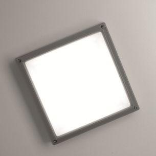 LED-Wandleuchte Sferio mit 13W - Gehäuse Hellgrau - Warmweiß 3000K 1x 13 Watt, weiß/hellgrau
