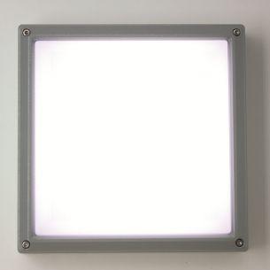 Quadratische Sensor-LED-Wandleuchte aus Aluminiumdruckguss- Warmweiß 3000K - IP55