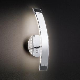 LED-Wandleuchte Luz in Chrom, 3,6W LED