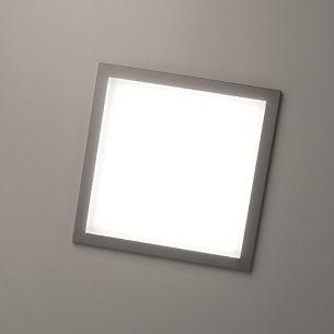 Superflache quadratische Einbau-LED-Leuchte in unterschiedlichen Lichtstärken erhältlich - Maße 22,5 x 22,5cm - IP20 - Warmweiß 3000°K