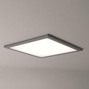 Superflache quadratische Einbau-LED-Leuchte in unterschiedlichen Lichtstärken erhältlich - Maße 22,5 x 22,5cm - IP20 - Neutralweiß 4250°K