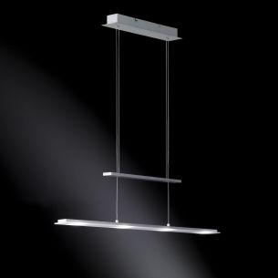 Höhenverstellbare Pendelleuchte inkl. LEDs - Oberfläche nickel-matt