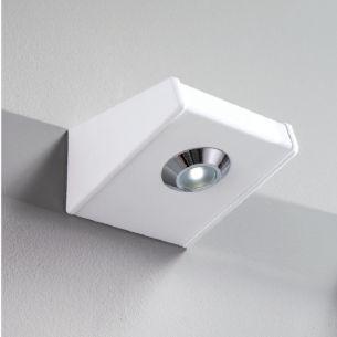 Badezimmer-LED-Leuchte, ideal als Spiegelleuchte in Weiß, Nickel oder Chrom, 1x6Watt LED, 3000K warmweiß