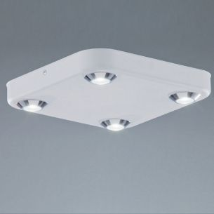 LED-Leuchte, ideal fürs Badezimmer in Weiß, 4x6Watt LED, 3000K warmweiß weiß