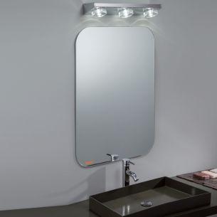 Badezimmer-LED-Leuchte, ideal als Spiegelleuchte in Weiß, Nickel oder Chrom, 3x6Watt LED, 3000K warmweiß