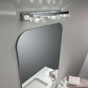 Badezimmer-LED-Leuchte, ideal als Spiegelleuchte in Chrom, LED 3000K warmweiß, von 2 bis 4 flammig  wählbar