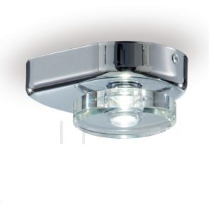 Badezimmer-LED-Leuchte in Chrom, LED 3000K warmweiß, 1 flammig