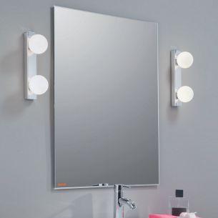 Spiegelleuchte in Chrom inklusive Energie Saver G9 Leuchtmittel, als 2, 3 oder 4 flammige Ausführung wählbar