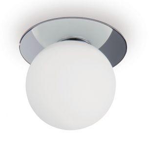 LED-Einbauleuchte, ideal fürs Badezimmer in Weiß oder Chrom, 1x6Watt LED, 3000K warmweiß