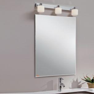 Spiegelleuchte in Chrom inklusive Energie-Saver Leuchtmittel als 2 flammige Ausführung