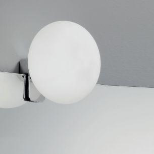 2-er SET Klemmleuchten in Chrom mit Opalglas, inklusive G9 33Watt Leuchtmittel