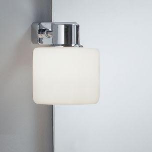 Klemmleuchten für Ihr Badezimmer in Chrom mit Opalglas 2er-Set