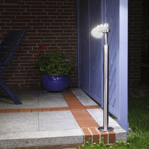 LED Wegeleuchte, 350° drehbar, 3,6 Watt, Edelstahl oder Edelstahl schwarz pulverbeschichtet