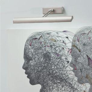 LED-Bilderleuchte in Nickel matt oder Weiß, mit 1 x 10Watt oder 1 x 15Watt LED, 3000K warmweiß