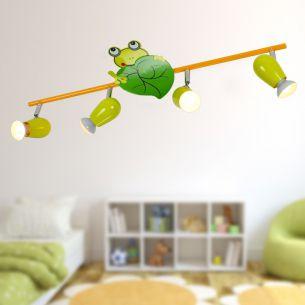 Niedliche Froschleuchte für Ihr Kinderzimmer - Deckenstrahler - 4-flammig
