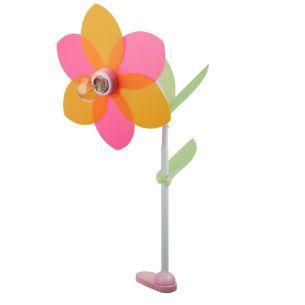 Kinder-Klemmleuchte Blüte mit Blütenblättern aus Folie