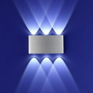 LED-Aluminium-Wandleuchte in & outdoor 6x 1W LED