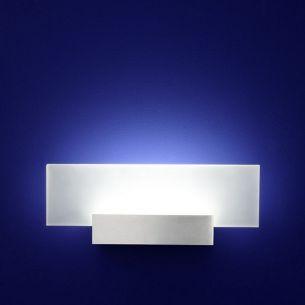 LED-Aluminium-Wandleuchte IP20 6x 1W LED 390 Lumen 3000 Kelvin mit Glasscheibe
