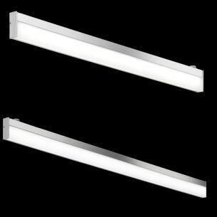 Bad-Leuchte IP44 in Chrom mit weißem Acrylglas
